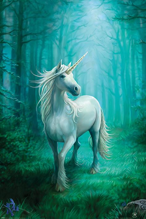 Anne Stokes: Forest Unicorn Portrait Poster