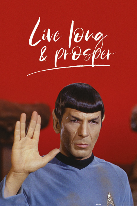 Star Trek: Live Long and Prosper Portrait Poster