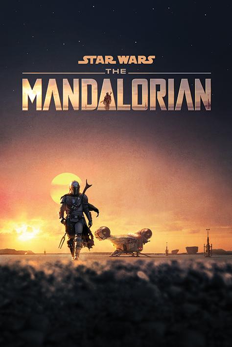 Star Wars: The Mandalorian at Dusk Portrait Poster