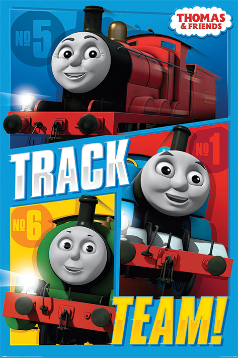 Thomas & Friends: Track Team Portrait Poster