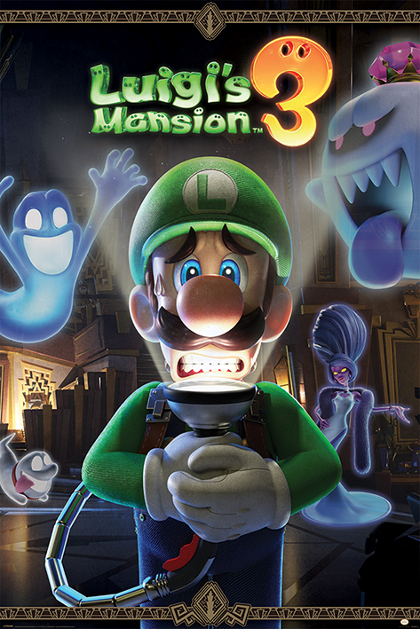 Luigi's Mansion 3: You're in for a Fright Portrait Poster