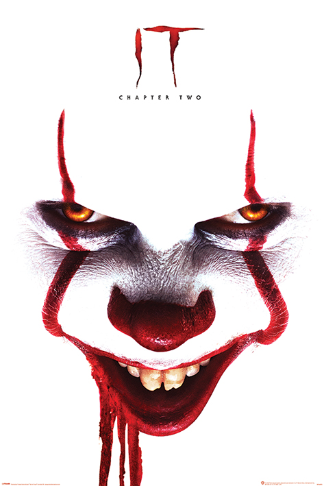 IT Chapter Two: Pennywise Face Portrait Poster