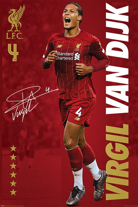 Liverpool FC: Virgil Van Dijk Portrait Poster