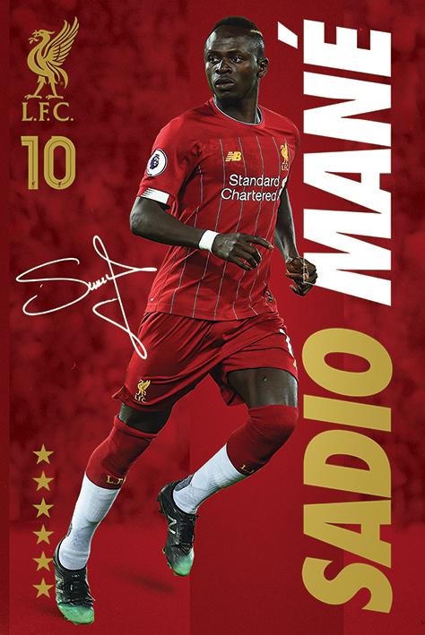 Liverpool FC: Sadio Mane Portrait Poster