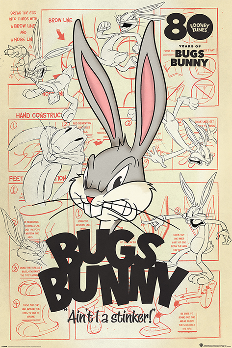 Looney Tunes: Bugs Bunny - Ain't I A Stinker? Portrait Poster