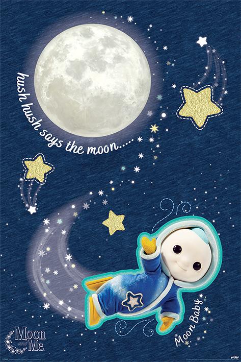 Moon and Me: Hush Hush Portrait Poster