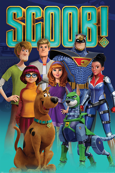 Scoob! Scooby Gang and Falcon Force Portrait Poster
