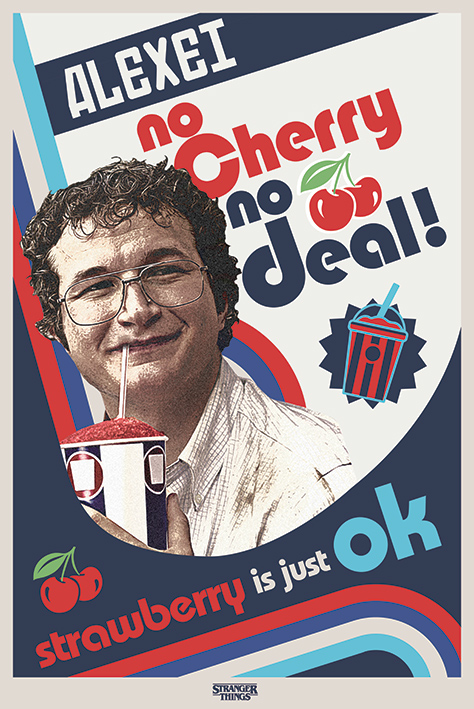 Stranger Things: No Cherry No Deal Portrait Poster