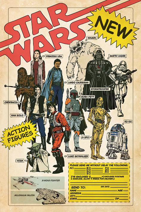 Star Wars Action Figures Portrait Poster