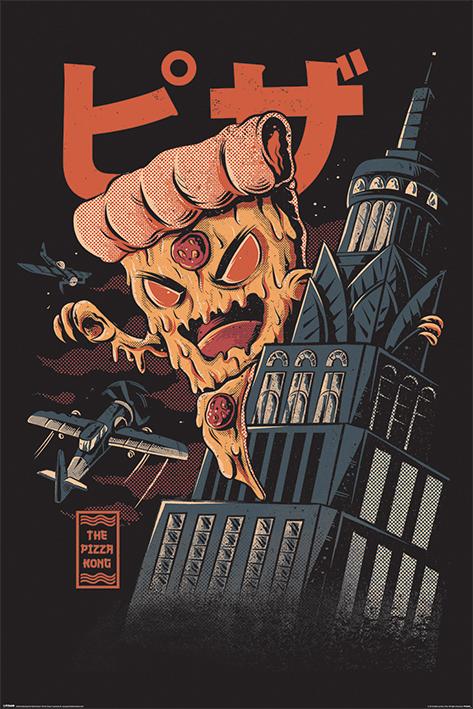 Ilustrata: Pizza Kong Portrait Poster