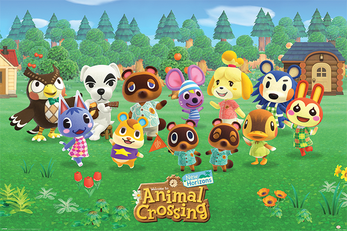 Animal Crossing: Lineup Landscape Poster