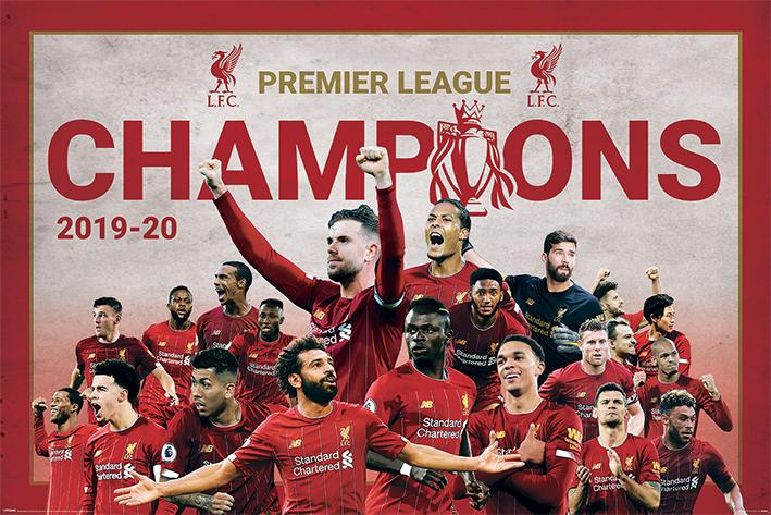 Liverpool FC: Champions Montage Landscape Poster