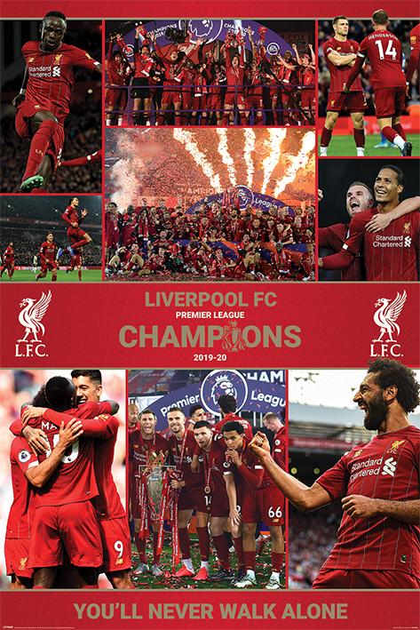 Liverpool FC: Winning Season Portrait Poster