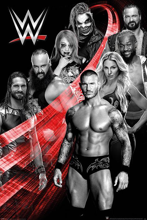 WWE: Superstars Swoosh Portrait Poster