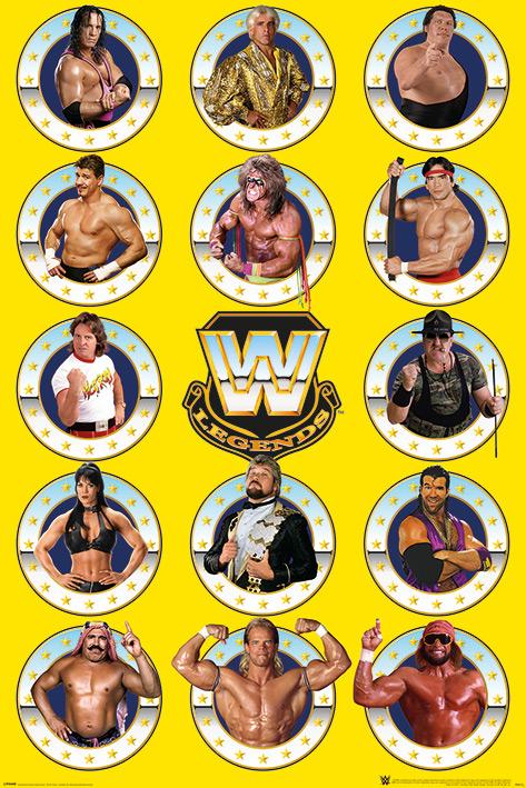 WWE: Legends Chrome Portrait Poster