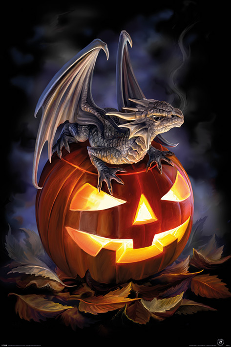 Anne Stokes: Trick or Treat Portrait Poster