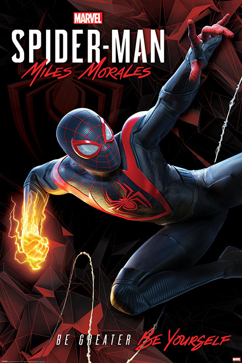 Spider-Man Miles Morales: Cybernetic Swing Portrait Poster