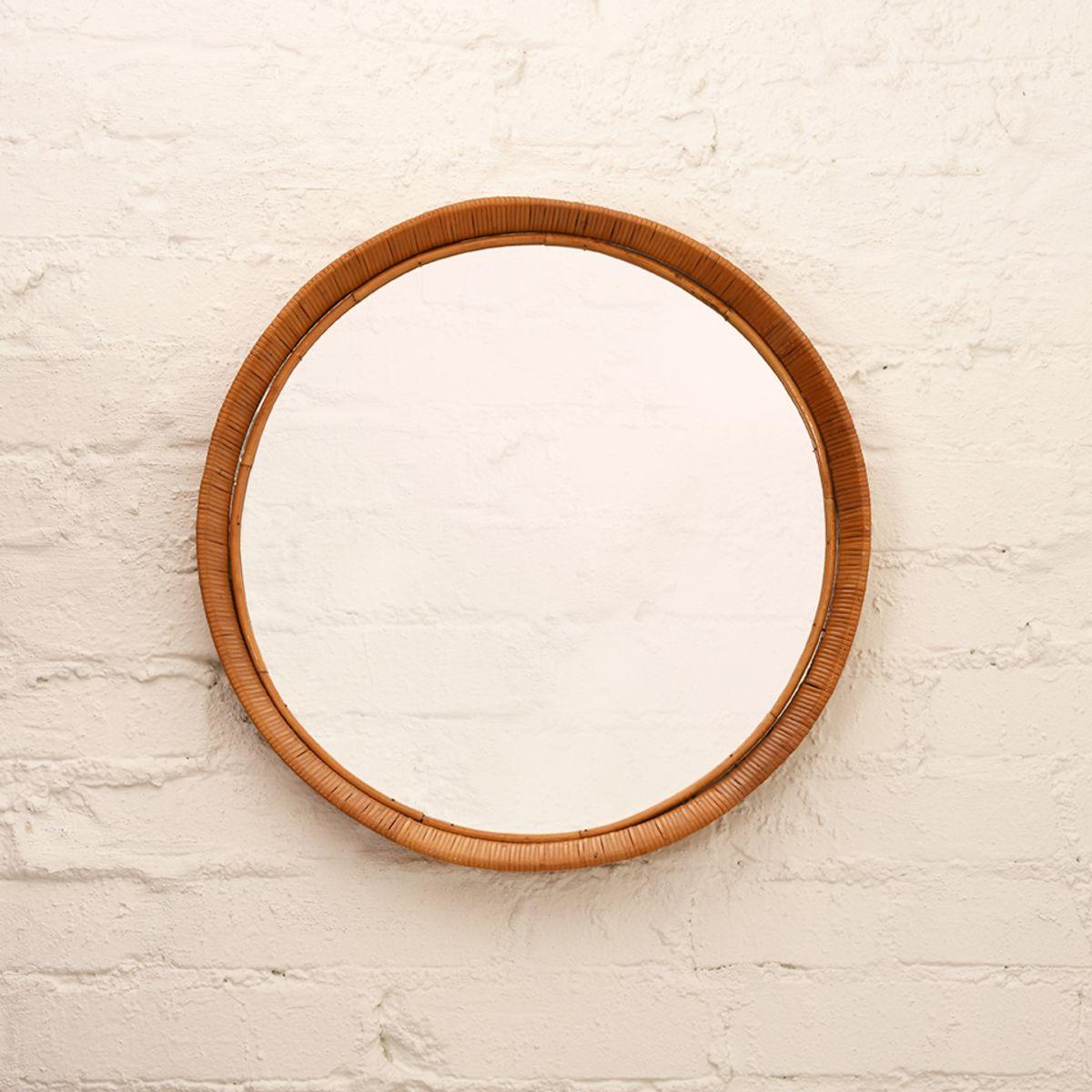 Rattan-Mirror-Round