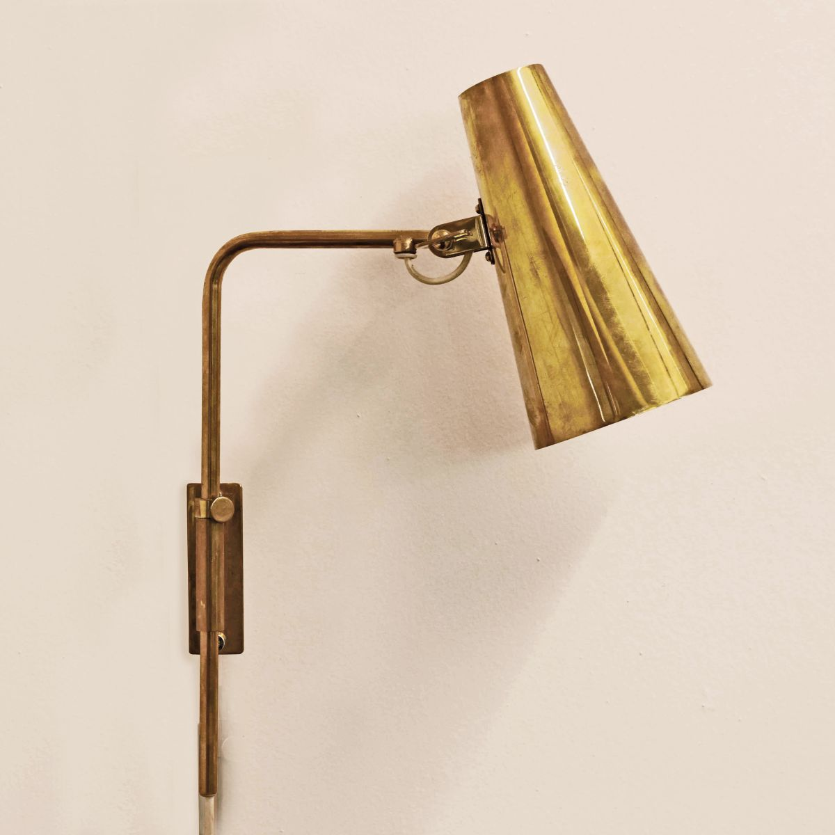 Paavo Tynell Brass Wall Lamp