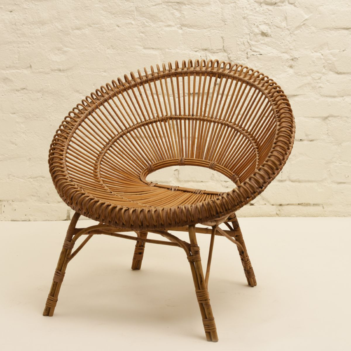 Albini Franco Round Rattan Chair
