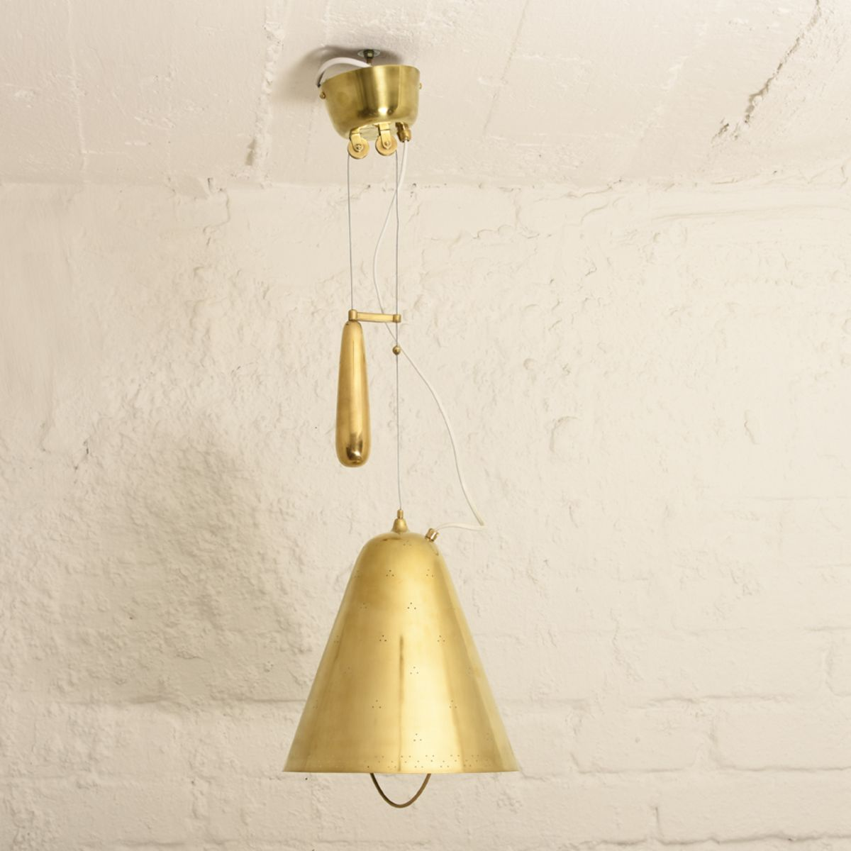 Tynell Paavo Brass Counter Balanced Ceiling Light