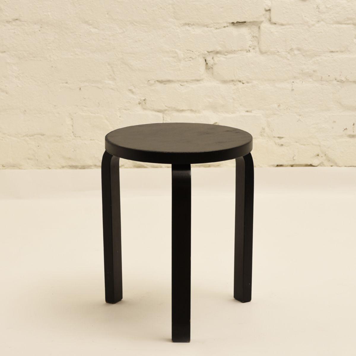 Aalto Alvar Stool 60 Black Paint