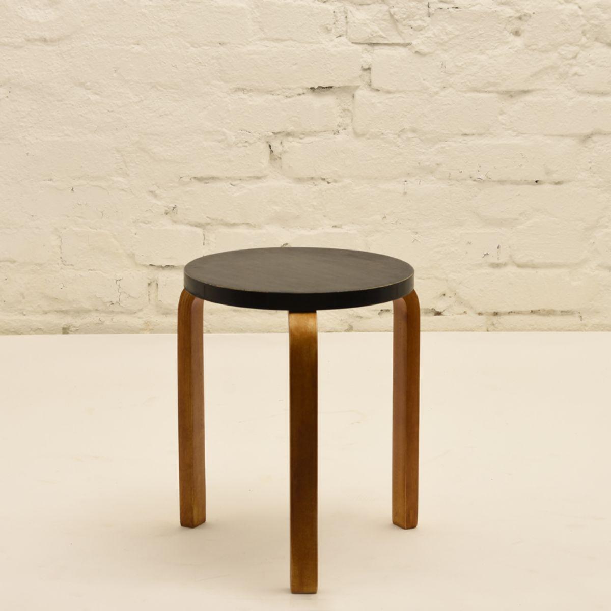 Aalto-Alvar_stool-60-worn-black-paint