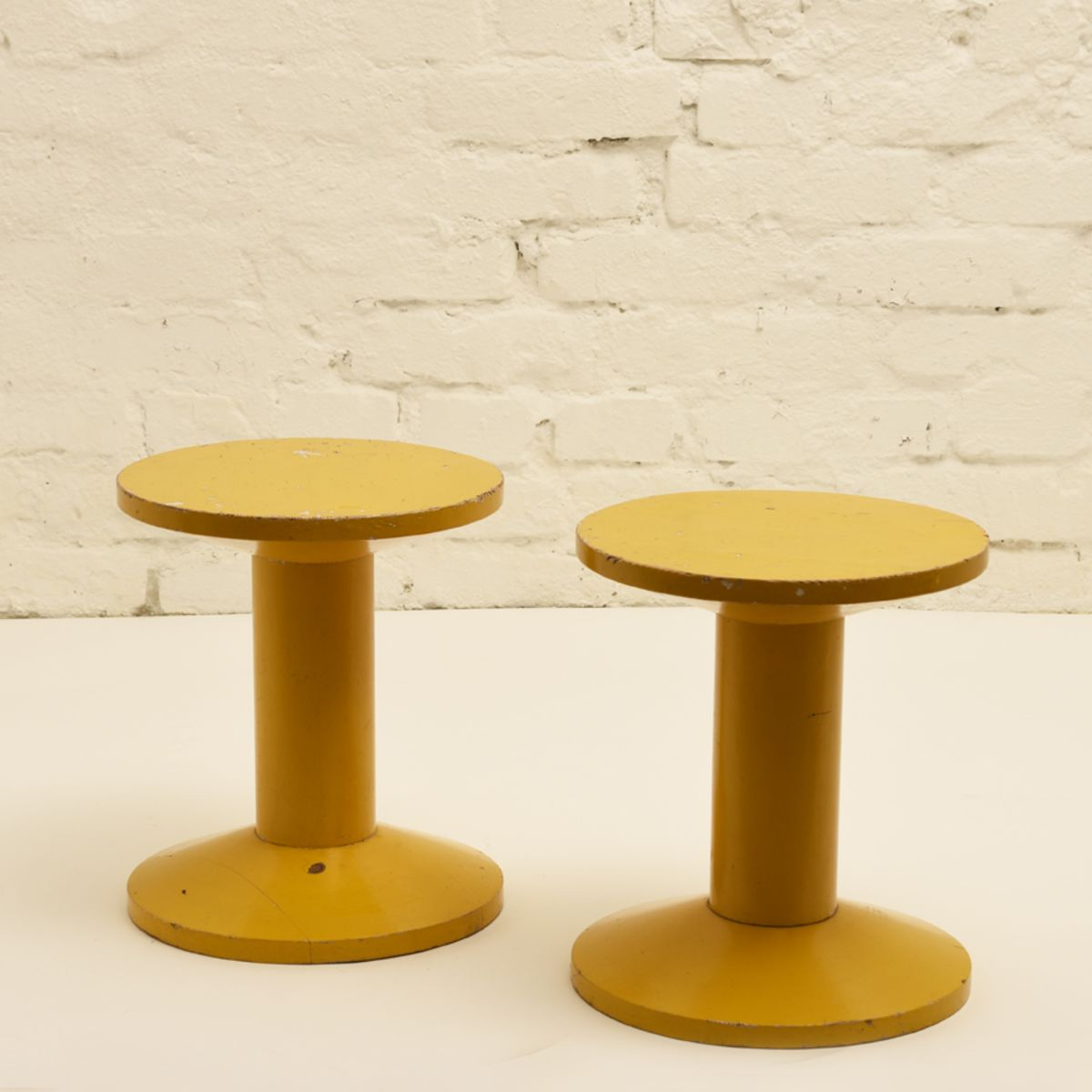 Anonymous_Wooden-Yellow-Stools_detail1