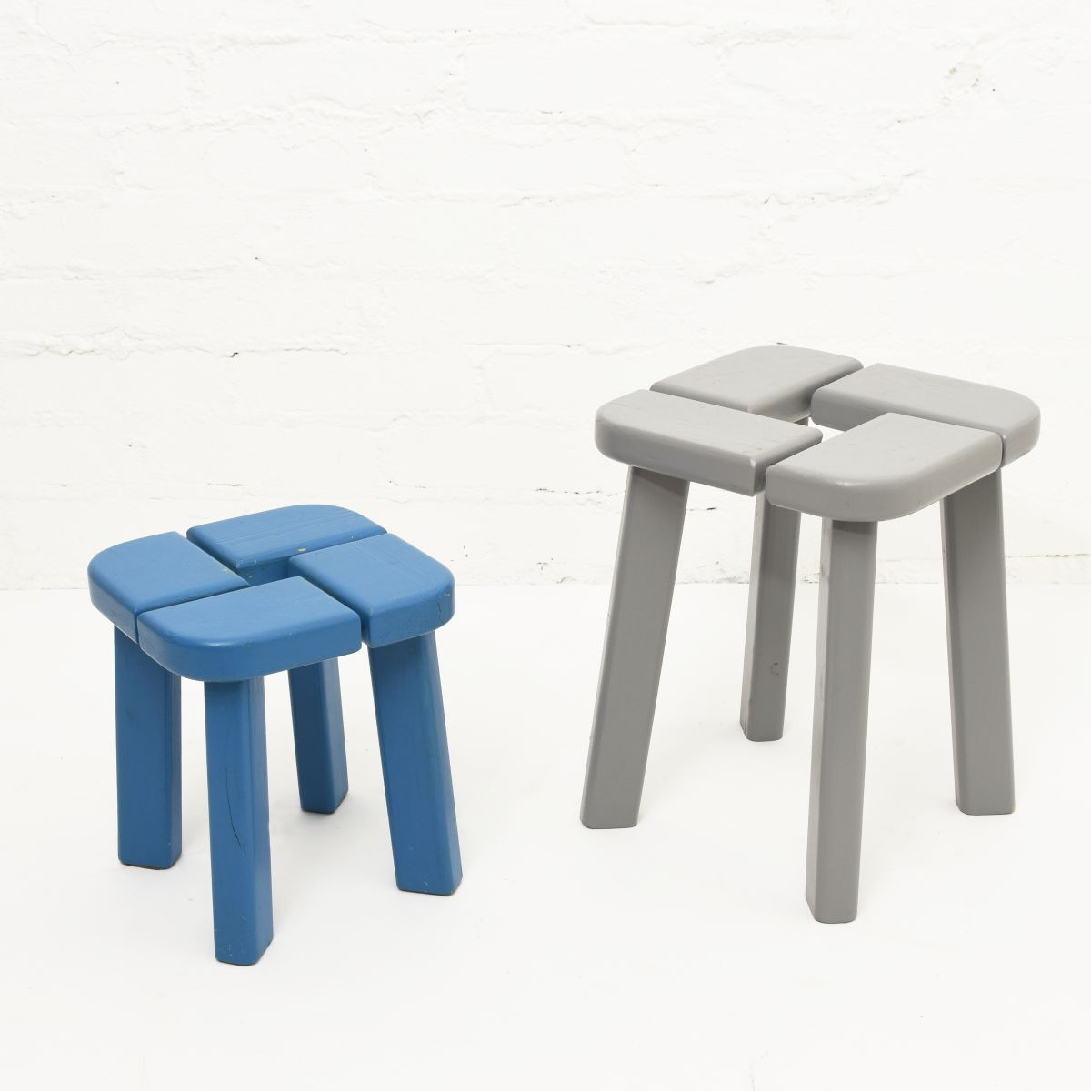 Wooden-Stool-Blue-Gray