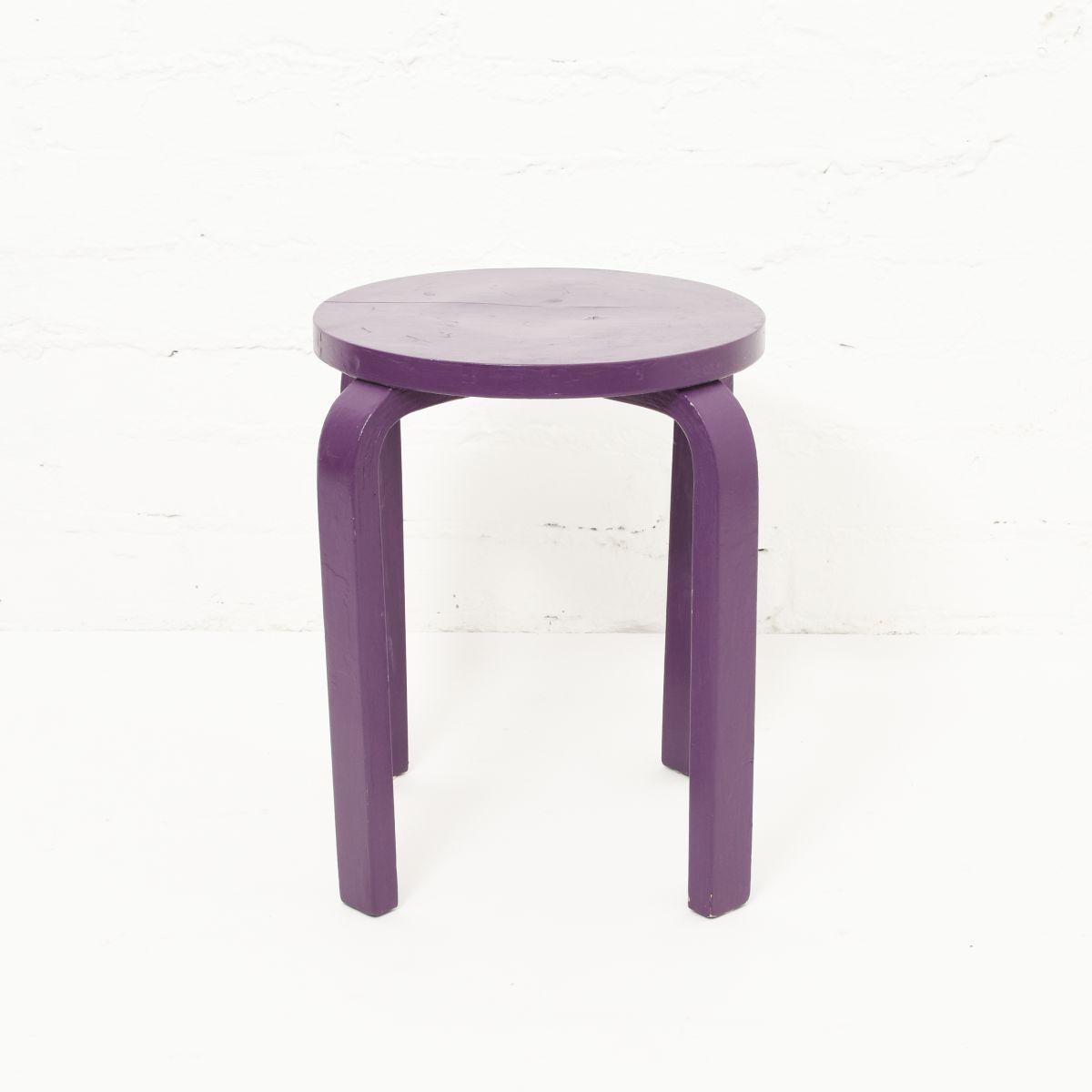 Aalto-Alvar-Stool-E60-Painted-Purple