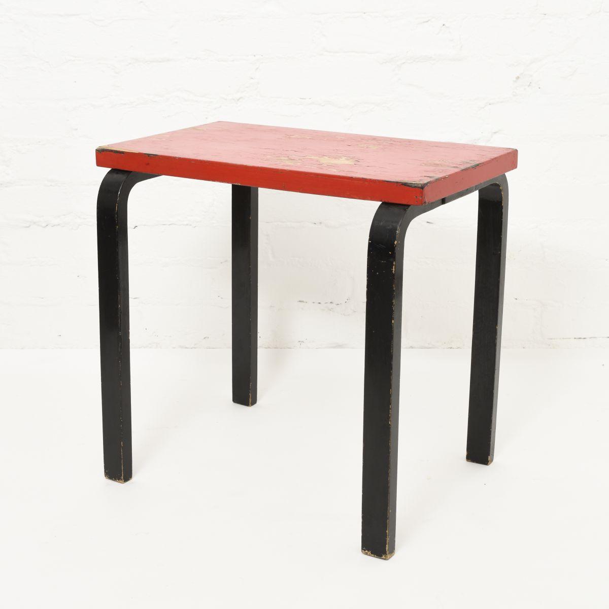 Aalto-Alvar-Painted-Side-Table-Red-Brack