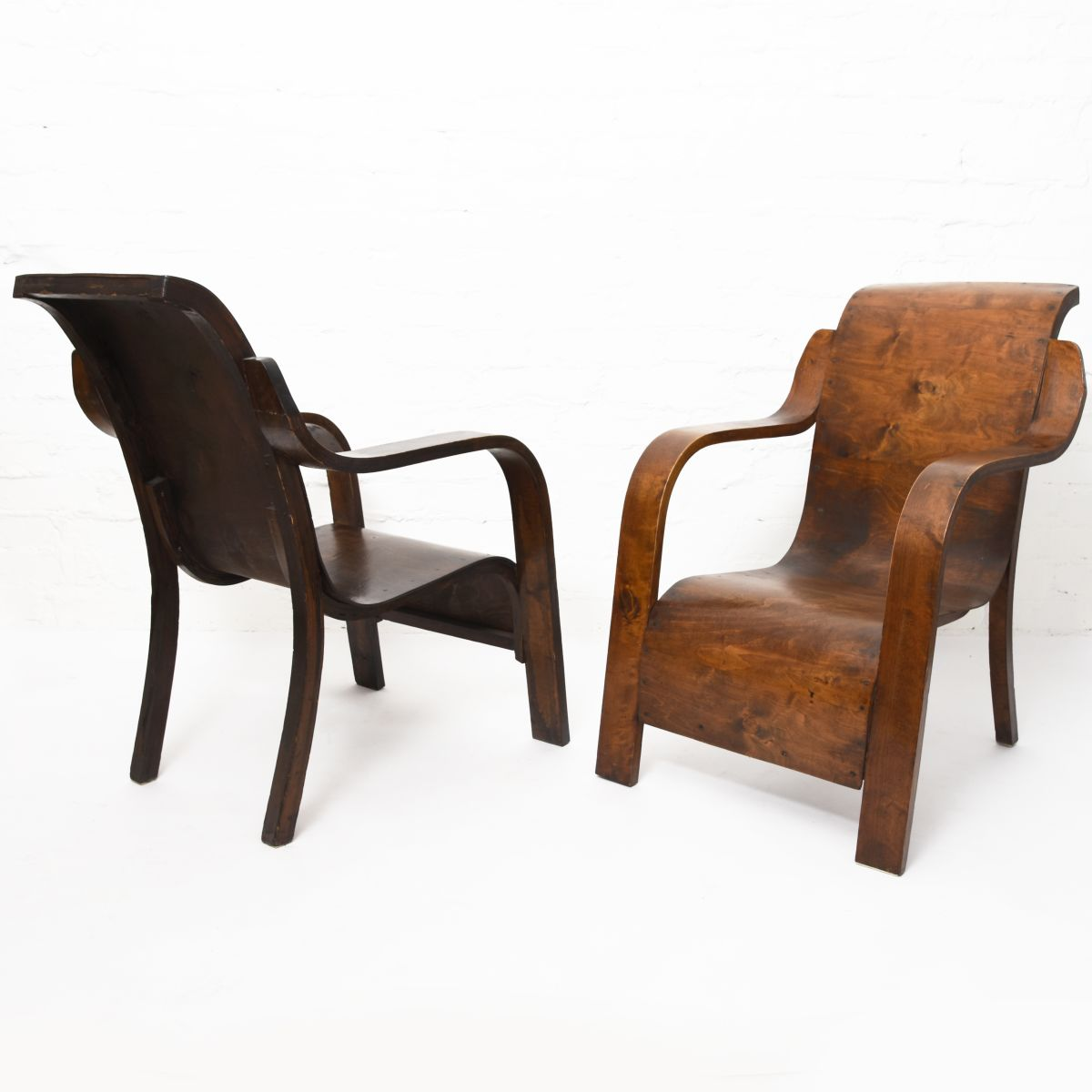 Anonymous-Stained-Plywood-Armchair