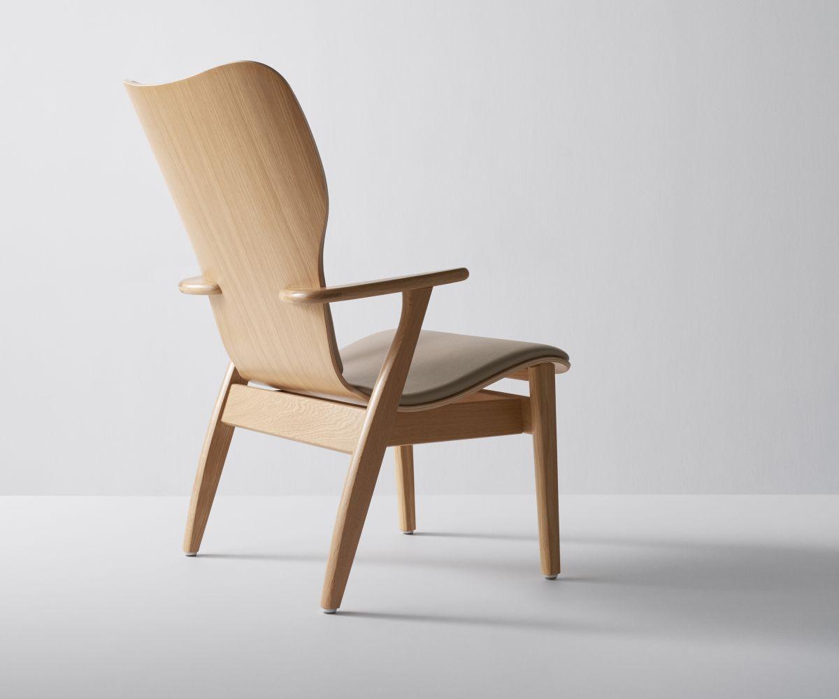 Domus Lounge Chair oak upholstered