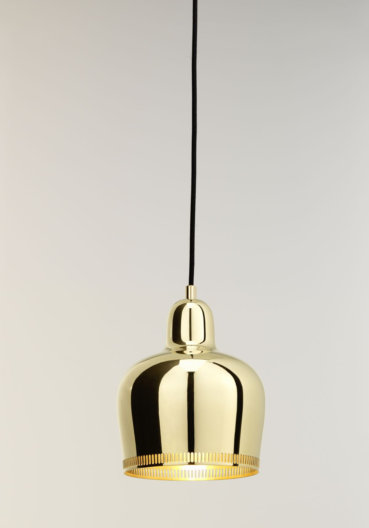 "Pendant Light A330S ""Golden Bell"" Savoy_on"