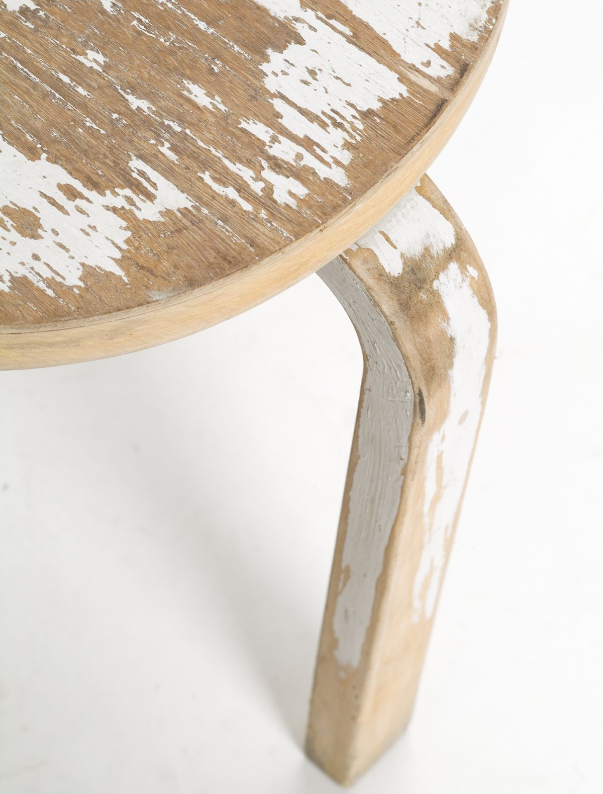 Stool 60 - 2nd Cycle close up birch white
