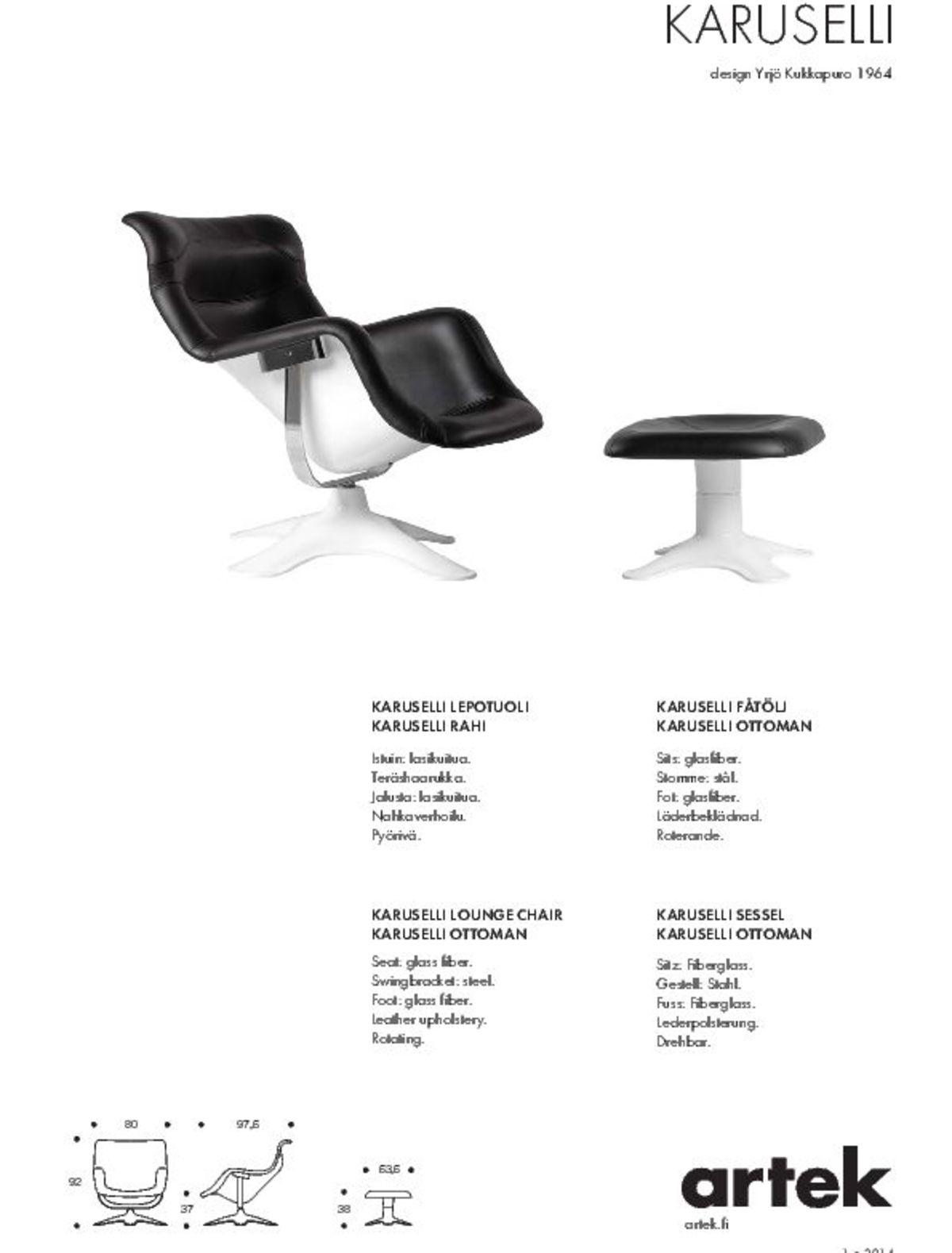 Karuselli Lounge Chair Factsheet