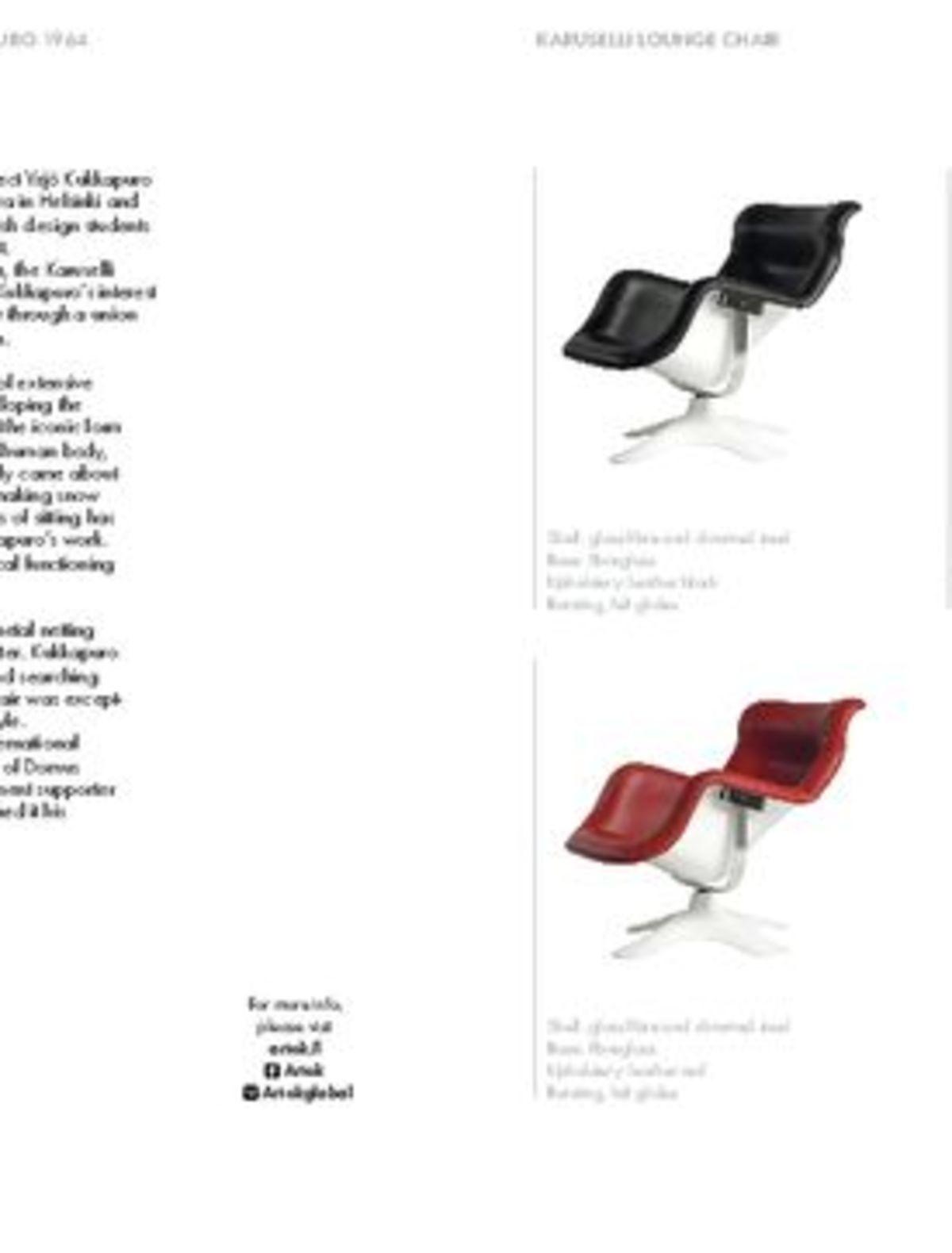 Product Leaflet Karuselli Lounge Chair