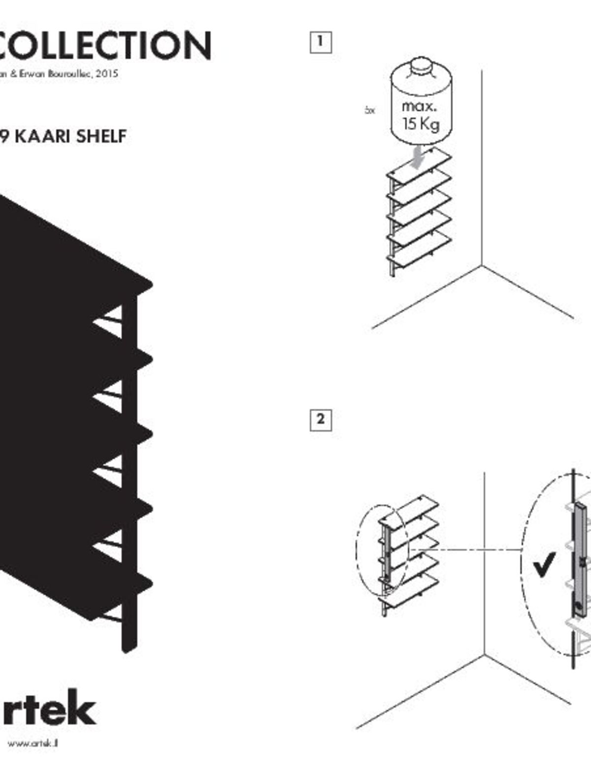 Kaari Wall Shelf REB009 User Instruction