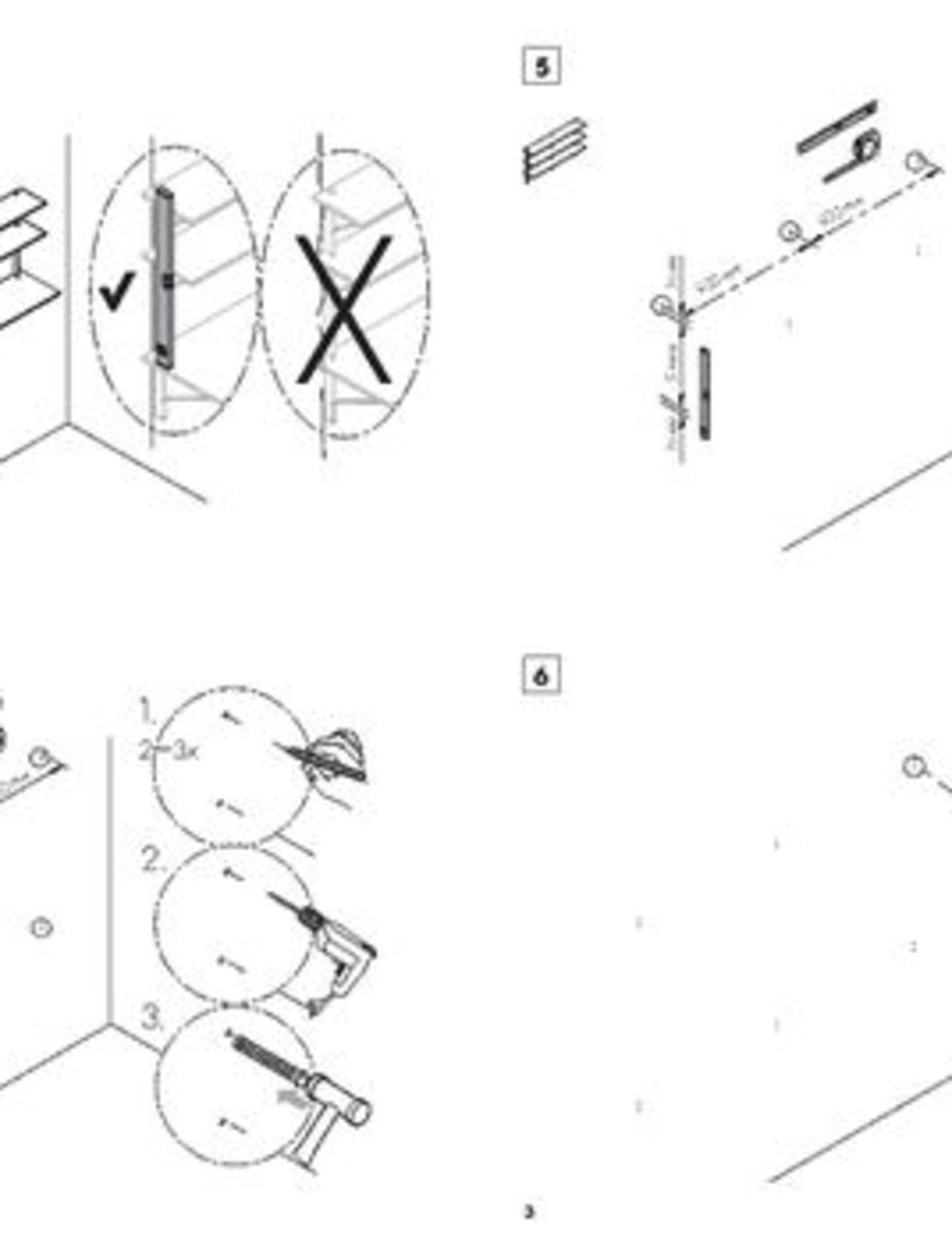 Kaari Wall Shelf REB008 Wall Shelf with Desk REB010 REB013 User Instruction