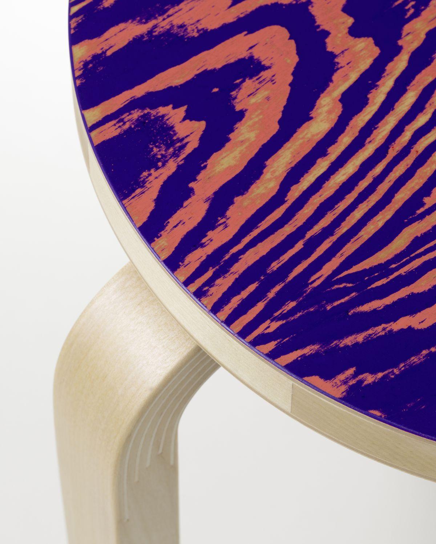 Stool 60 ColoRing Detail, pink/purple