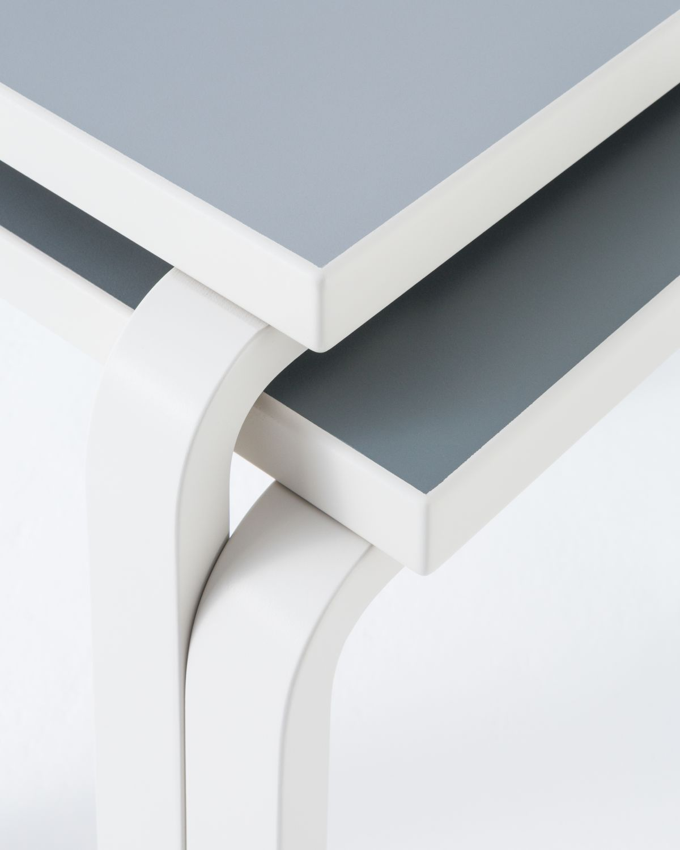 Aalto Table square 80C Stone White