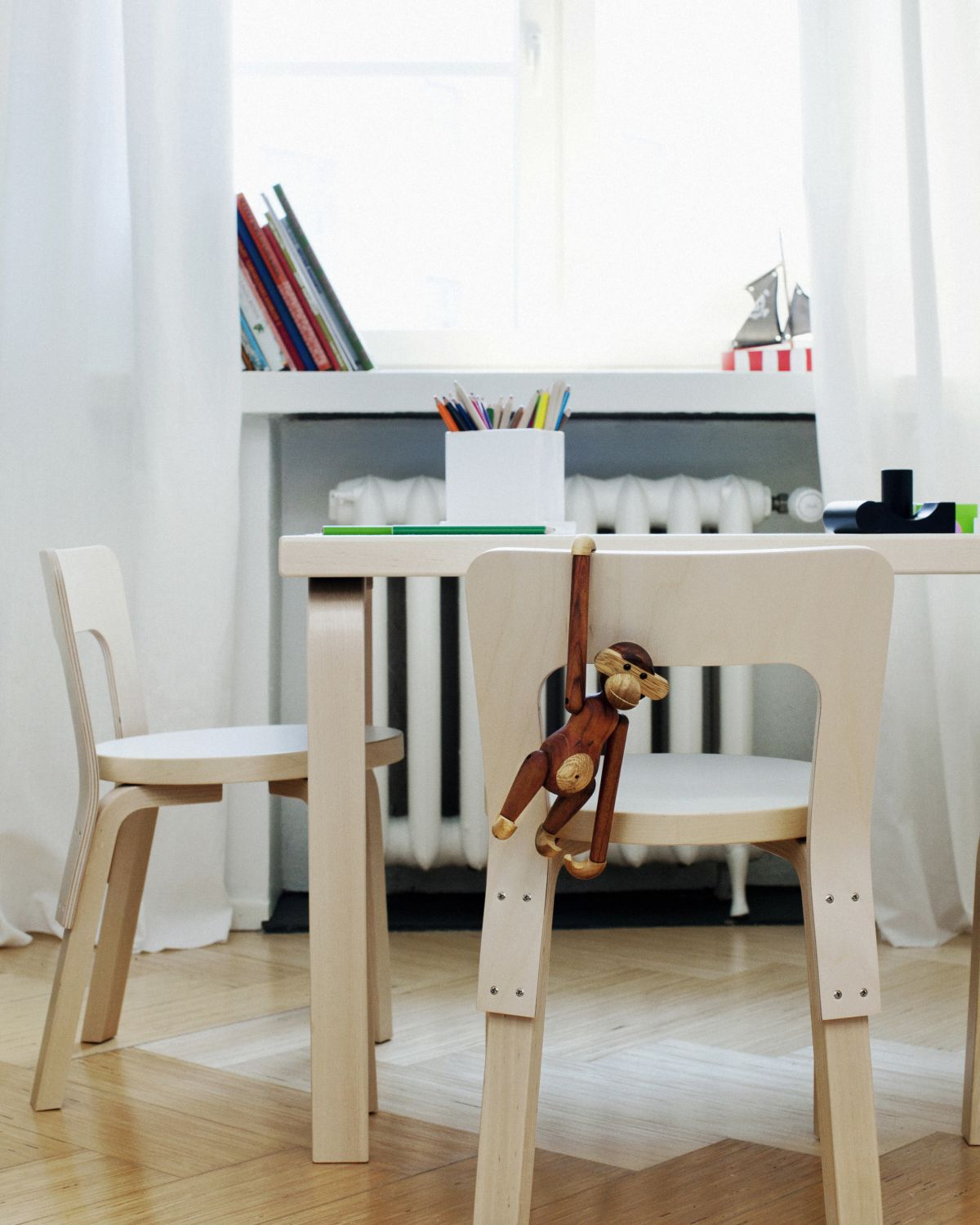 Children's Chair N65 and Aalto Table 81B in situ close up