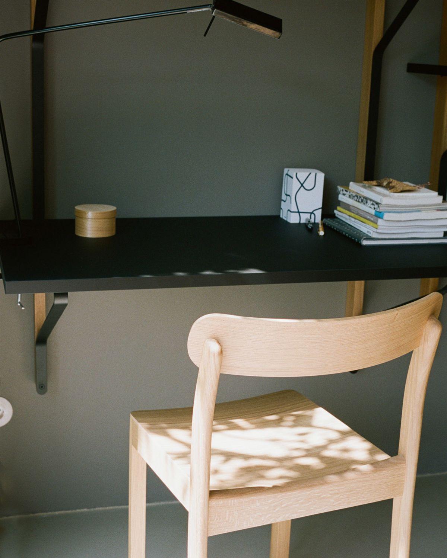 Atelier Chair Clear Lacquered Ash Kaari Shelf With Desk Rgb 2407714