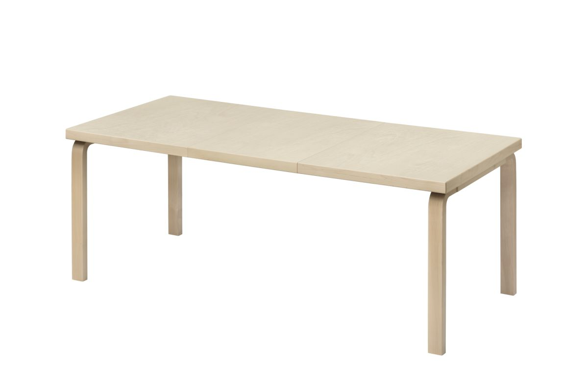 Aalto Table extendable 97 birch veneer
