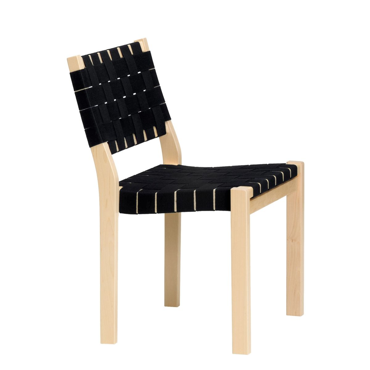 Chair 611 black webbing_WEB