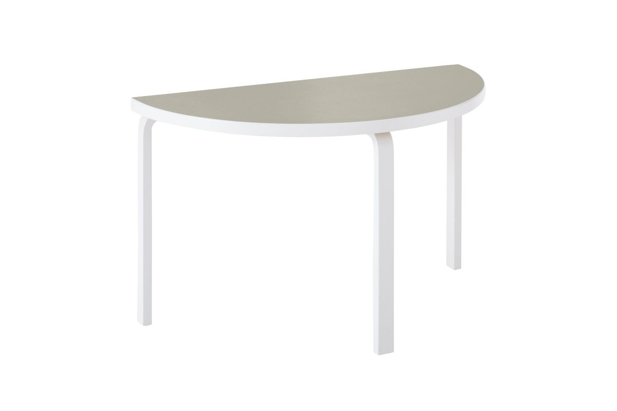 Aalto Table half-round 95 stone white lacquer pebble linoleum_WEB