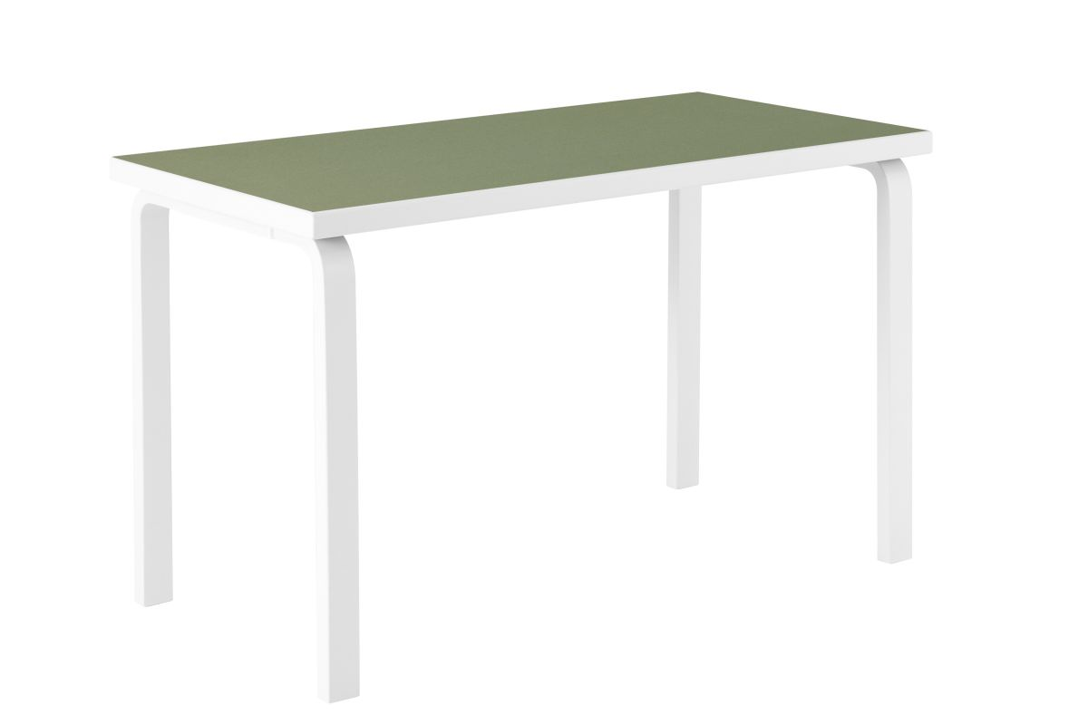 Aalto Table rectangular 80A stone white lacquer olive linoleum_WEB