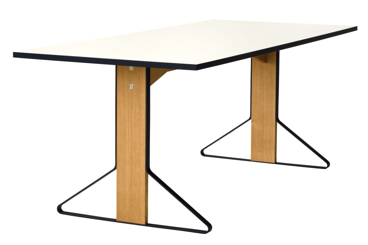 Kaari Table rectangular REB001 natural oak white HPL