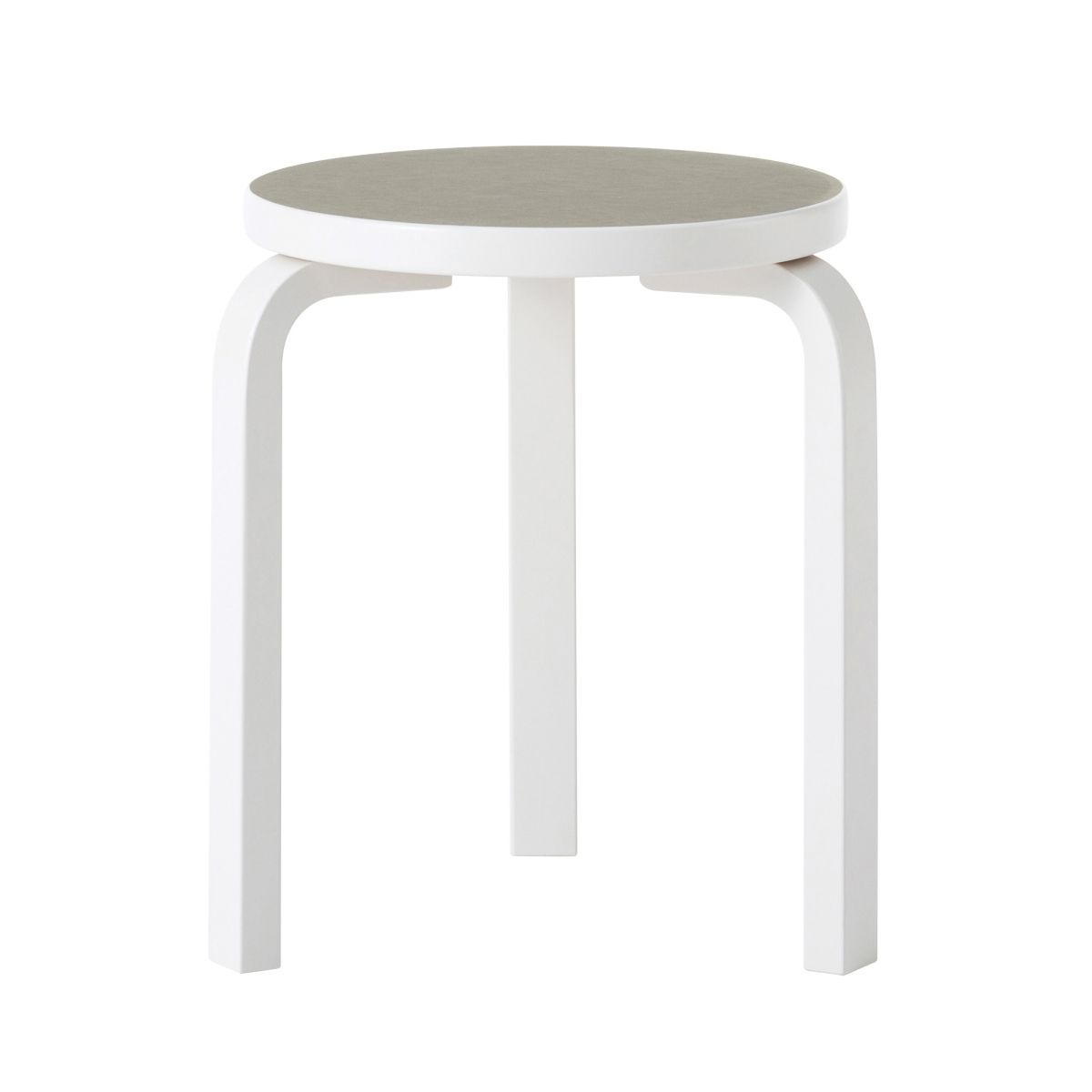 Stool 60 stone white lacquer pebble linoleum_1