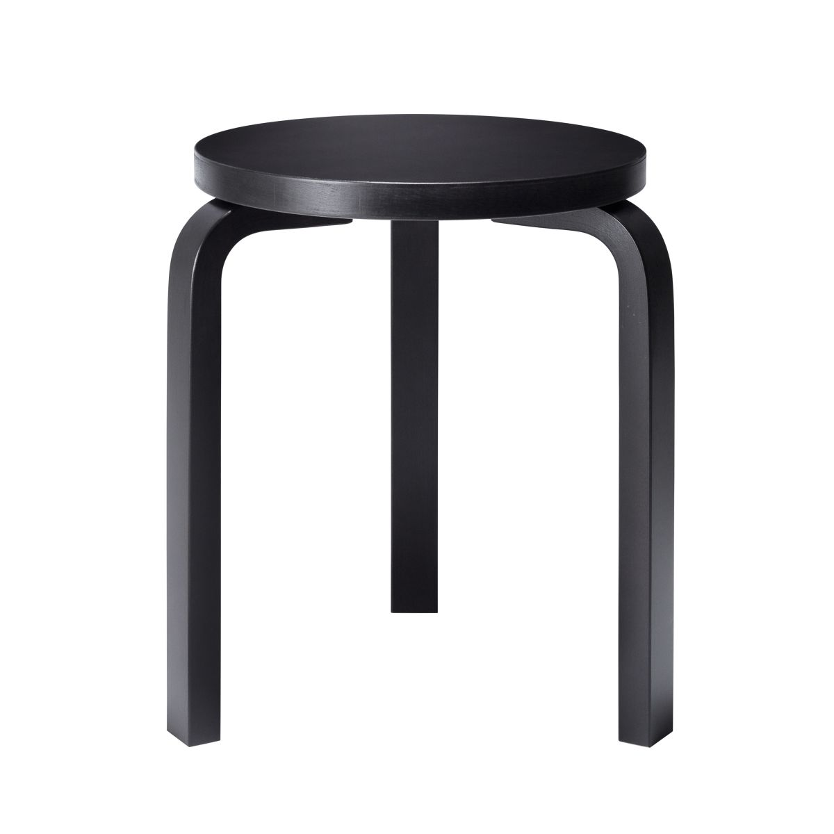 Stool 60 black lacquer